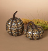 Fleurish Home Lg Rattan Textured Pumpkin (choice of 2 styles)