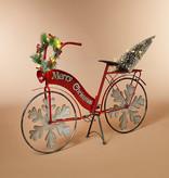 "Fleurish Home Lighted Metal Holiday Bicycle w/ Tree B/O 42.9""L"
