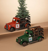 Fleurish Home Metal Holiday Truck w/ Magnet Sign (choice of 2 designs)