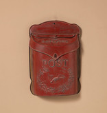 Fleurish Home Vintage Style Red Metal Post Box