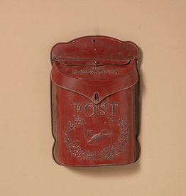 Fleurish Home Vintage Style Red Metal Post Box