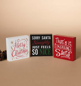 Fleurish Home Sm Square Holiday Sign (choice of 3 styles)