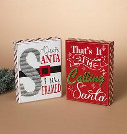 Fleurish Home Santa Tabletop Sign (choice of 2 styles)
