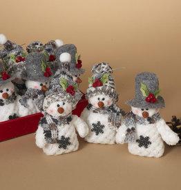 "Fleurish Home Sm Plush Holiday Snowman 5"" (choice of 3 styles)"