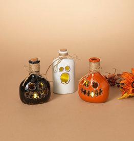 Fleurish Home Sm B/O Lighted Ceramic Halloween Bottle (choice of 3 styles)
