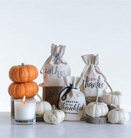 Fleurish Home Orange Clove 7 oz Candle w Cotton Gift Bag