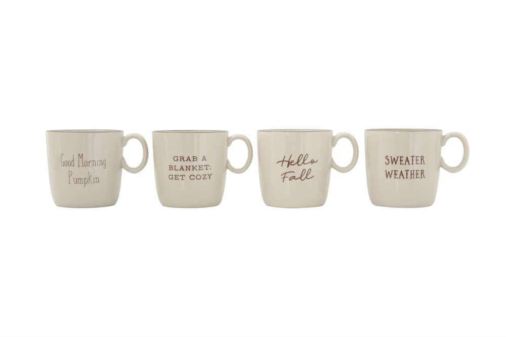 Fleurish Home Fall Saying Ceramic Mug (choice of 4 styles) 16 oz.