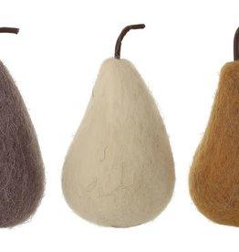 Fleurish Home Lg Wool Felt Pear (choice of 3 colors)