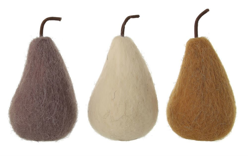 Fleurish Home Lg Wool Felt Pear (choice of 3 colors)