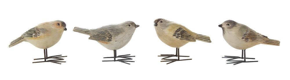 Fleurish Home Painted Bird w Metal Feet (choice of 4 styles)