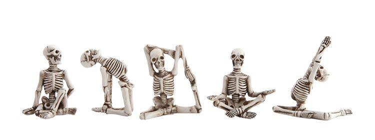 Fleurish Home Sm Skeleton in Yoga Pose (choice of 4 styles)
