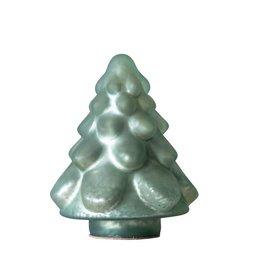"Sm Green Glass Christmas Tree (4.5"")"