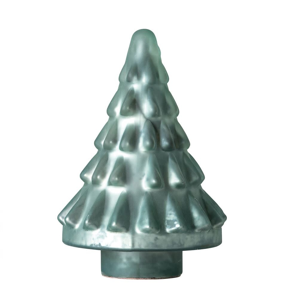 "Fleurish Home Med Green Glass Christmas Tree (8"")"