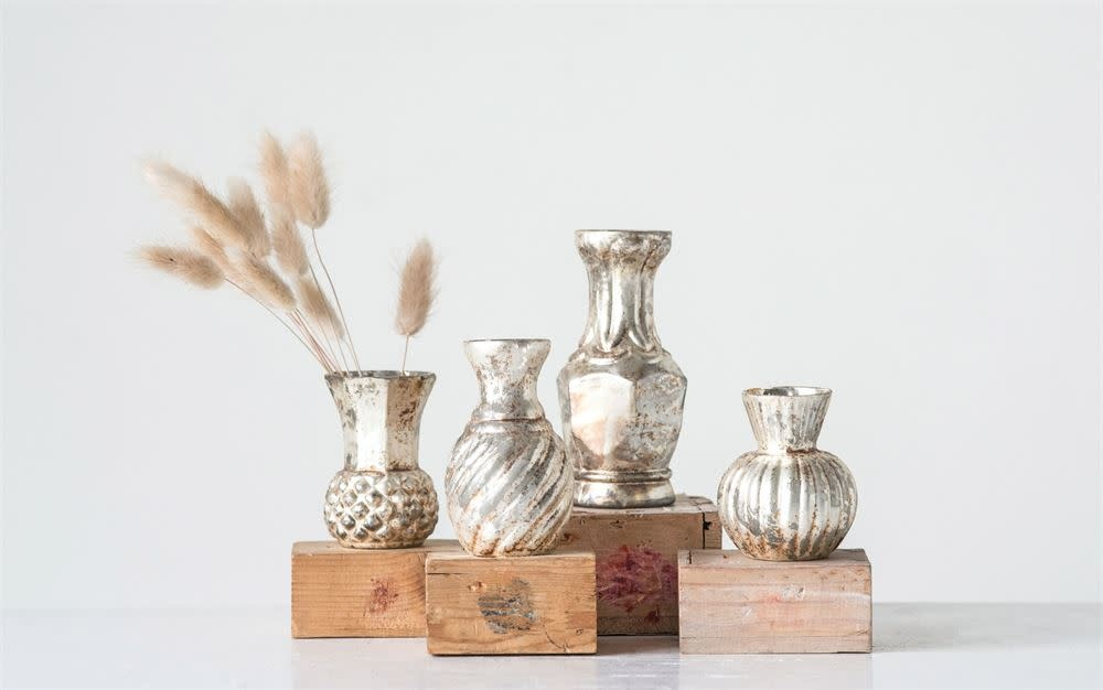 Fleurish Home Glass Bud Vase (choice of 4 shapes)