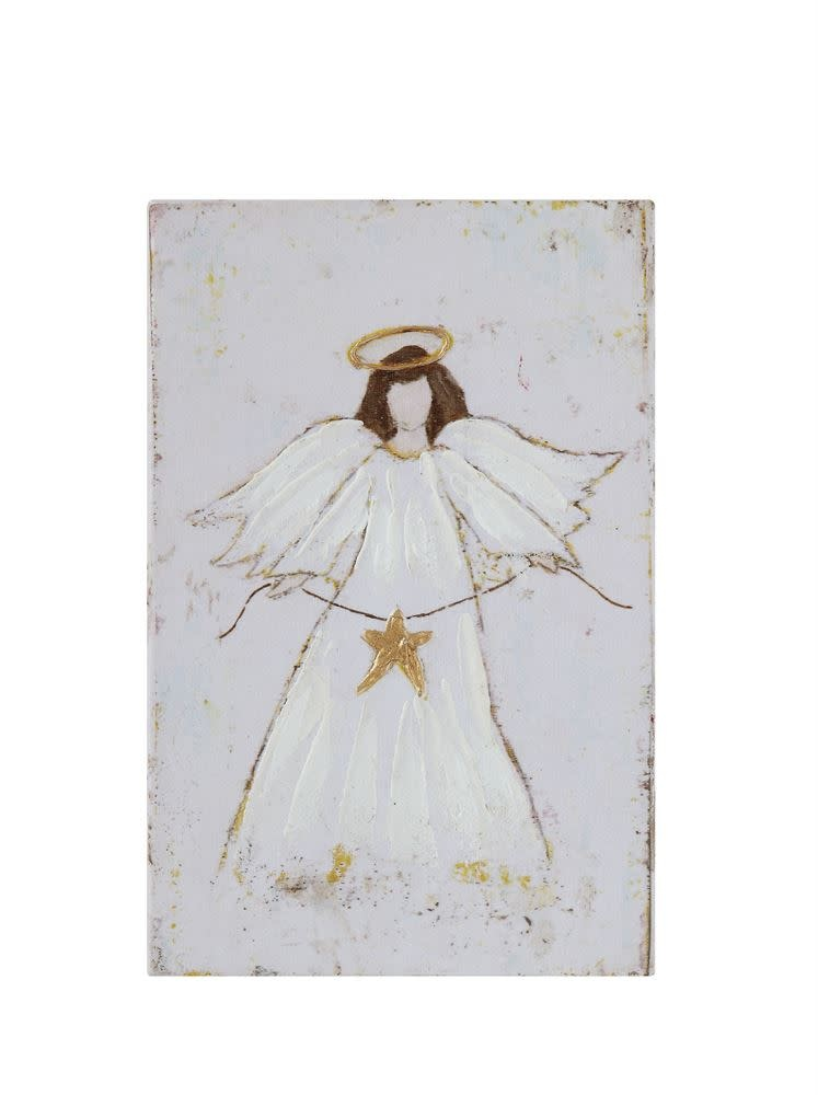 "Fleurish Home Christmas Angel Canvas Art (6""x9"")"