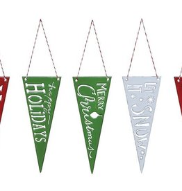 Fleurish Home Enameled Cutout Pennant Ornament (choice of 4 styles)