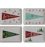Fleurish Home Sm Ceramic Dish w Holiday Pennant Design (choice of 4 styles)