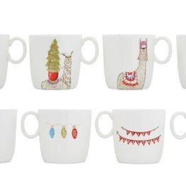 Fleurish Home Holiday Llama Ceramic Mug (choice of 4 styles)