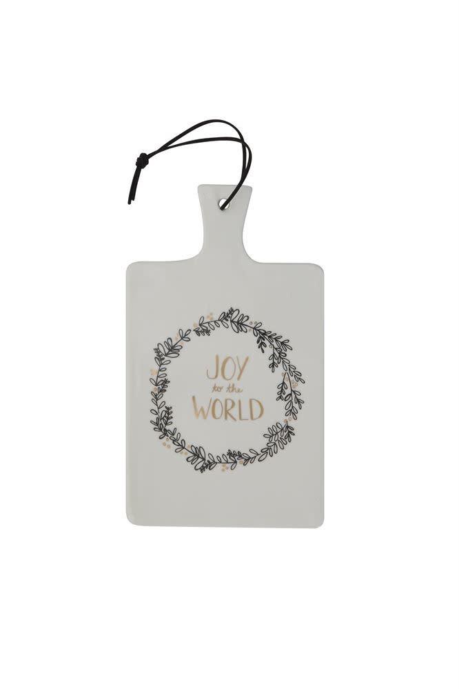 Fleurish Home Black & Gold Ceramic Serving Board Joy to the World