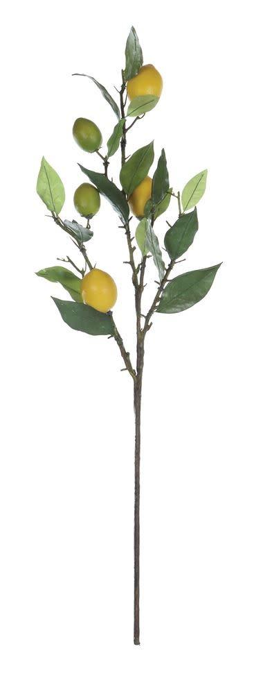 """Fleurish Home Faux Lemon Tree Branch (26"""")"""