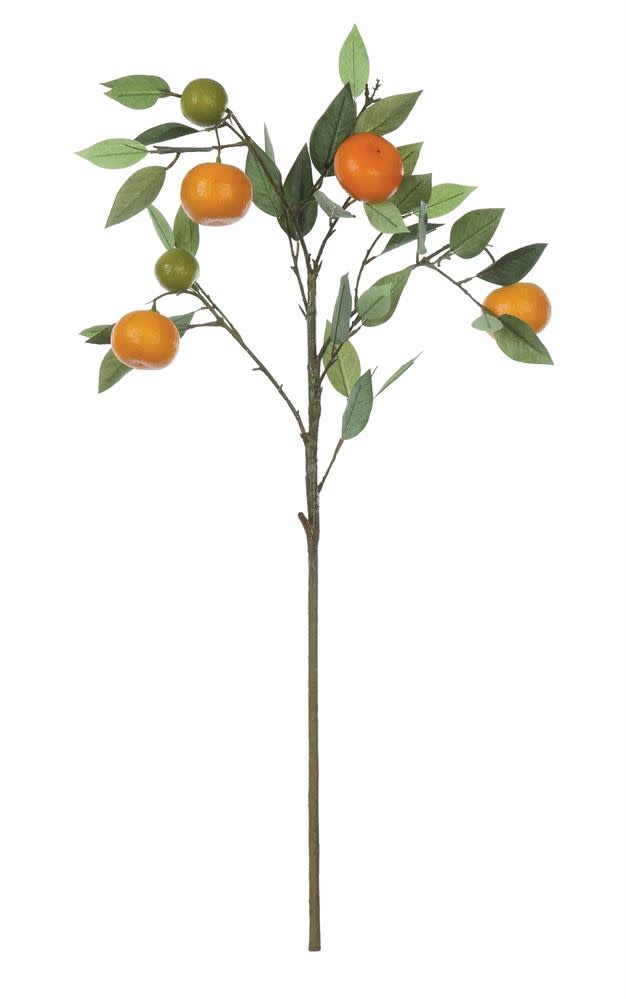 "Fleurish Home Faux Orange Tree Branch (34"")"