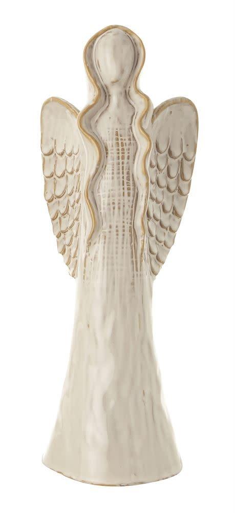 Fleurish Home Lg Glazed Ceramic Angel