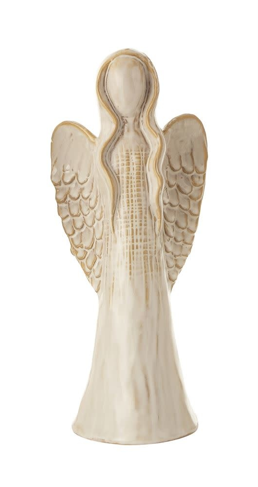 Fleurish Home Med Glazed Ceramic Angel