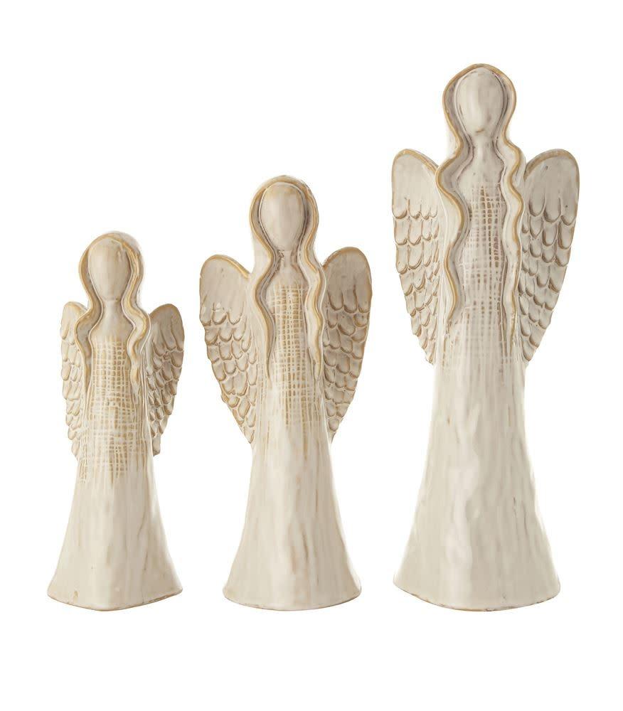 Fleurish Home Sm Glazed Ceramic Angel