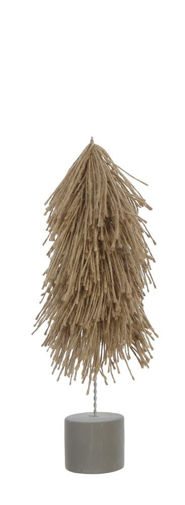 "Fleurish Home Shaggy Jute Tree on Metal Stand (14.75"")"