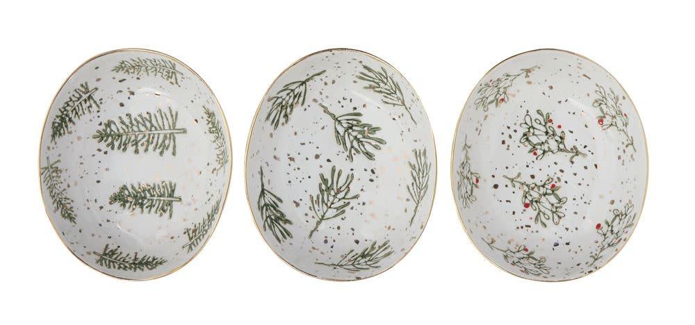 Fleurish Home Pineberry Branch Sm Stoneware Dish (patterns vary slightly)