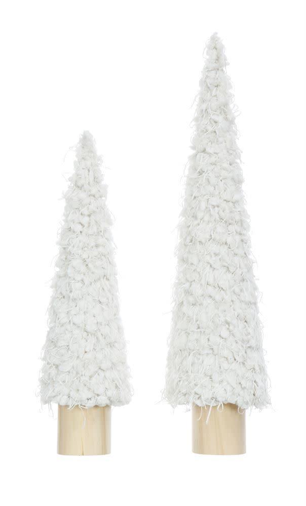 "Fleurish Home Sm White Fabric Tree (14"")"
