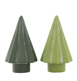 "Fleurish Home Lg Green Cement Tree(choice of 2 styles) 6.25"""