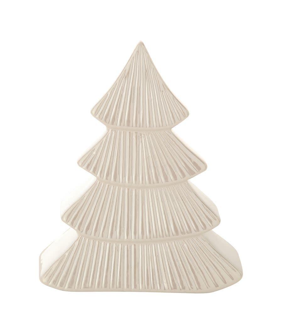 Fleurish Home White Textured Stoneware Pine Tree