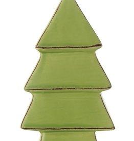 "Fleurish Home Green Glazed Ceramic Tree (5"")"