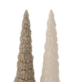 "Fleurish Home Glazed Ceramic Skinny Tree (choice of 2 colors) 6"""