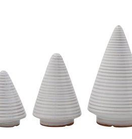 Fleurish Home Set of 3 Modern Strie Cone Trees