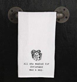Fleurish Home Quotes Towel Christmas Nap