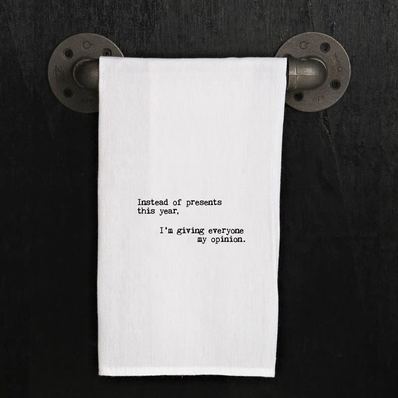 Fleurish Home Quotes Towel Giving Opinion