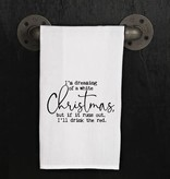 Fleurish Home Quotes Towel White Christmas