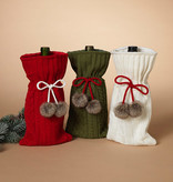 Fleurish Home Sweater Knit Wine Bottle Bag (choice of 3 colors)