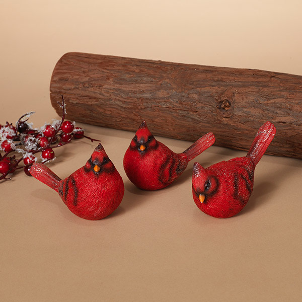 Fleurish Home Red Cardinal Bird (choice of 3 styles)