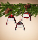 Fleurish Home Plaid Winter Hat Ornament (choice of 3 styles)