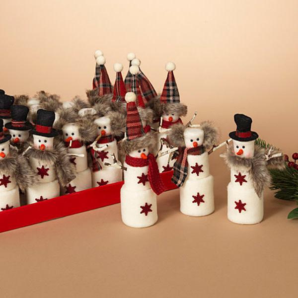 "Fleurish Home Sm Marshmallow Snowman (choice of 3 styles) 8"""
