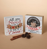 Fleurish Home Sm Wood Hot Cocoa Tabletop Sign (choice of 2 designs) 5.9""