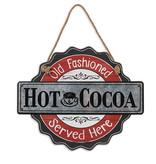 "Fleurish Home Wood & Metal Hot Cocoa Wall Hanging (15.75"")"
