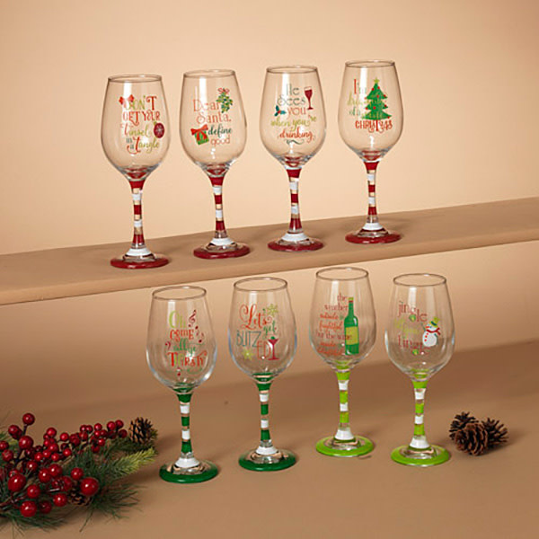 Holiday Wine Glass (choice of 8 styles)