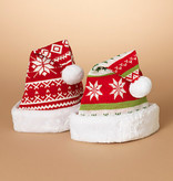 Fleurish Home Cute Knit Santa Hat w/ Faux Fur Border (choice of 2 styles)