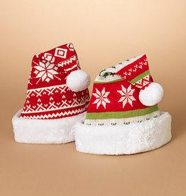 Fleurish Home @ Cute Knit Santa Hat w/ Faux Fur Border (choice of 2 styles)