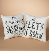 Fleurish Home Black & White Holiday Pillow (choice of 2 styles)
