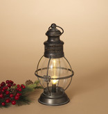 Fleurish Home Metal & Glass Hurricane Lamp